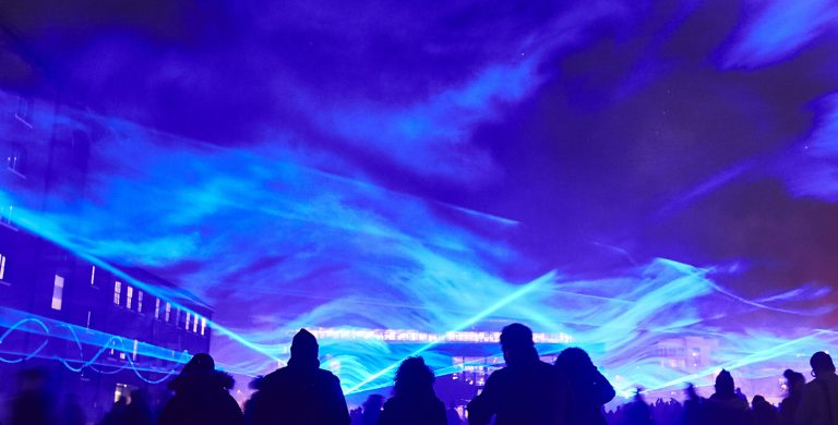 Waterlicht, Daan Roosegaarde . Photo by Matthew Andrews
