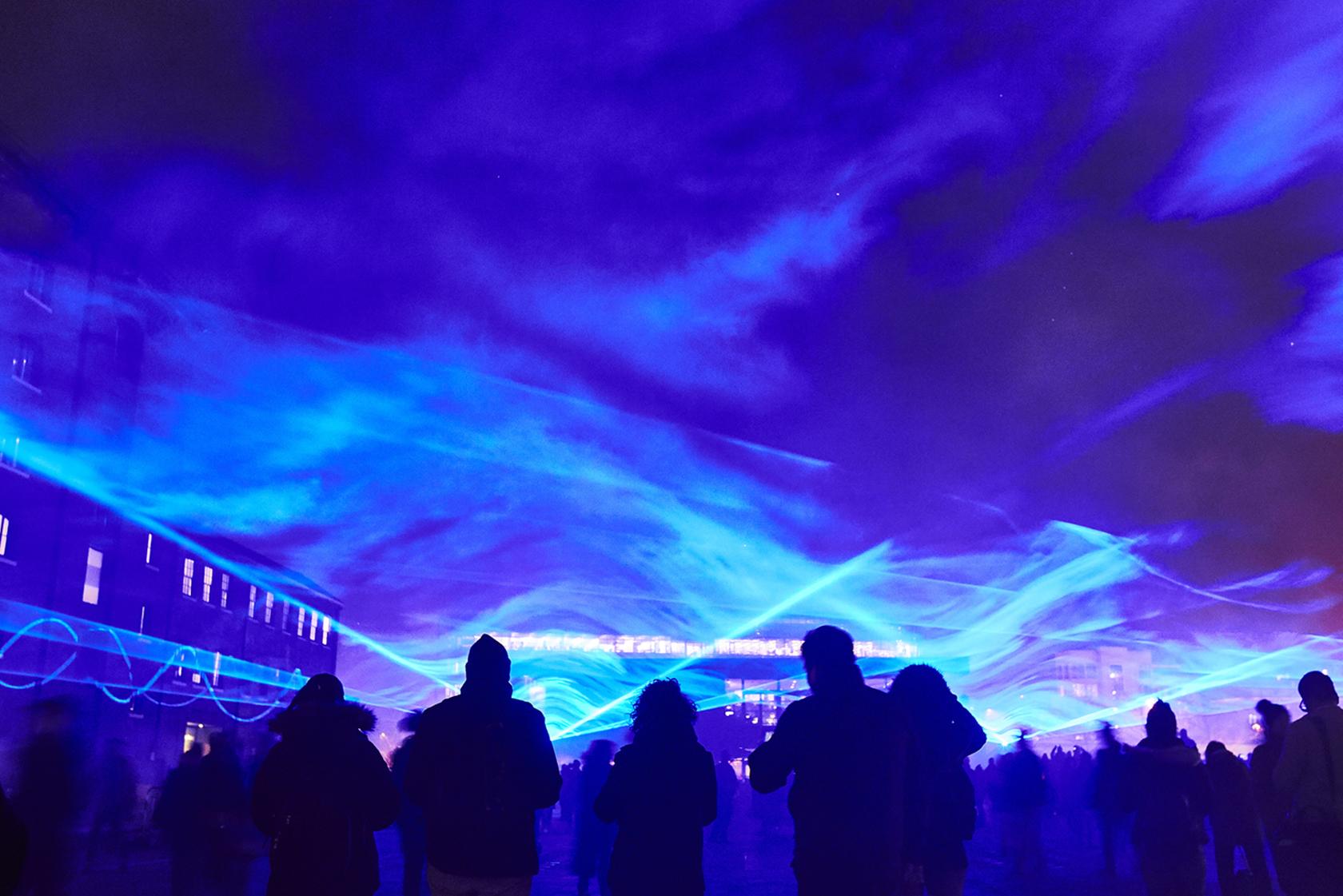 Waterlicht, Daan Roosegaarde . Photo by Matthew Andrews