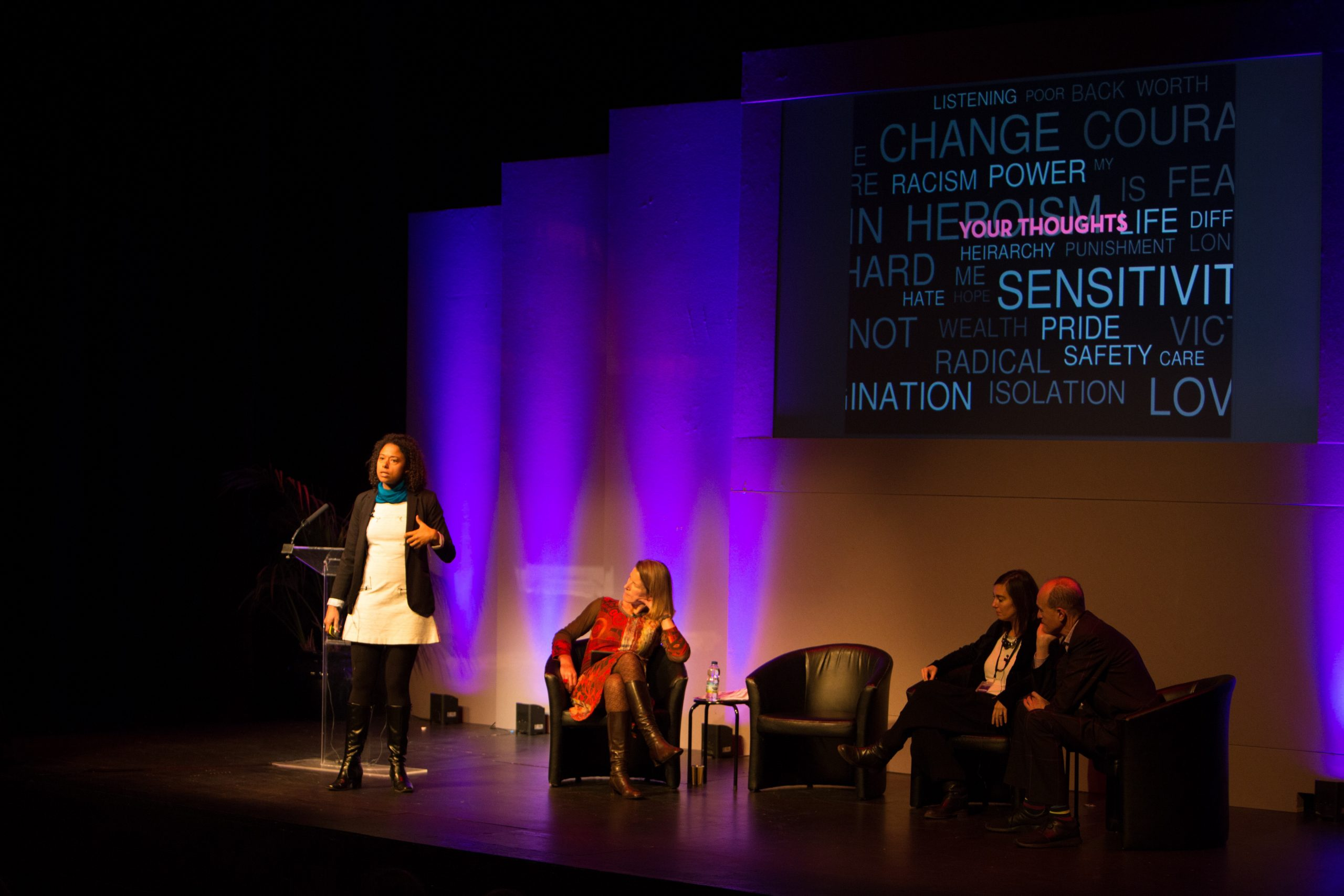 Deanna Van Buren on stage at the Lumiere Durham 2015 conference