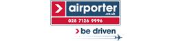 Airporter.co.uk 028 7126 9994 be driven - written in logo