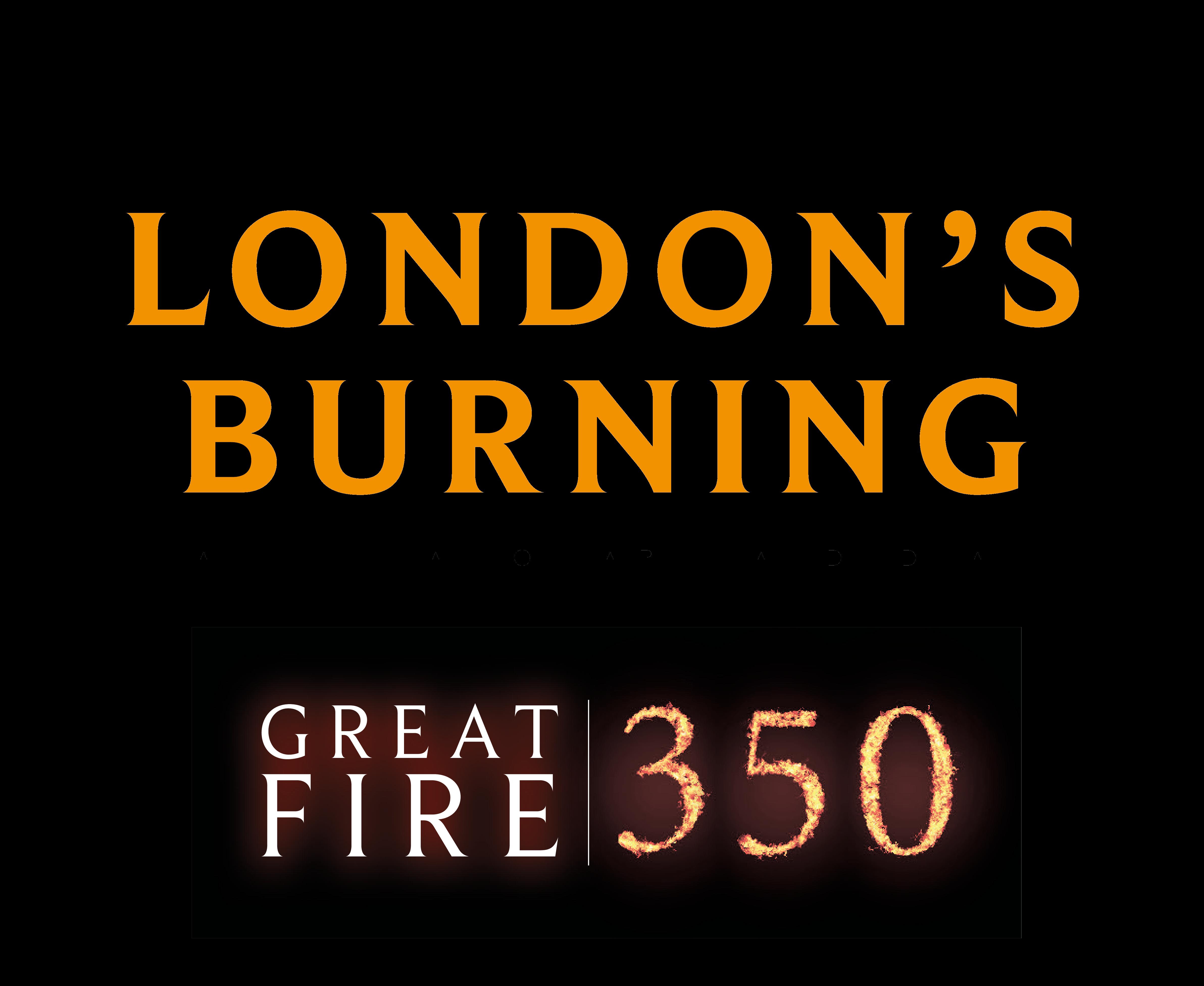 London's Burning, Great fire 350 logo