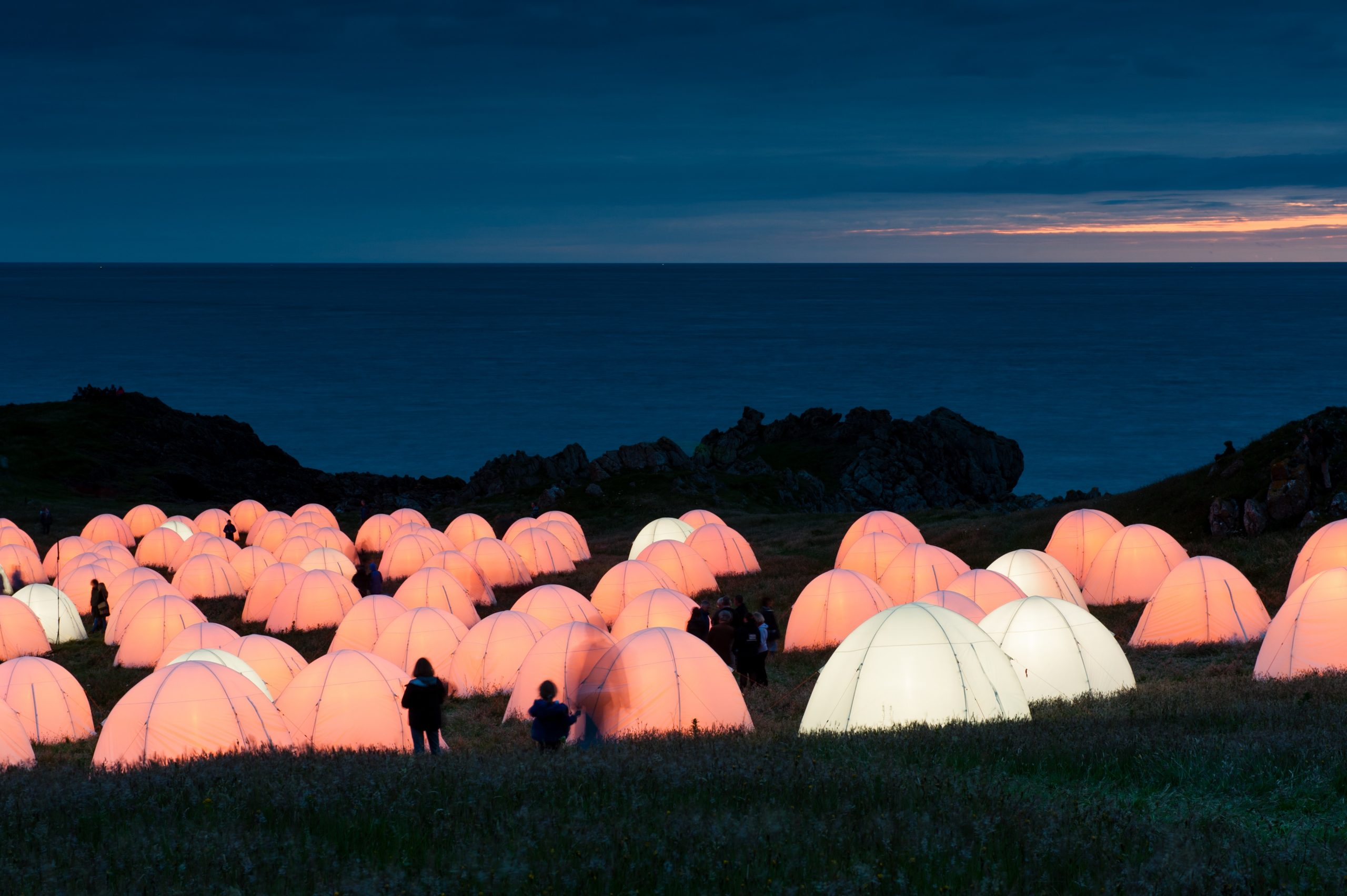 Peace camp at Cemaes Bay