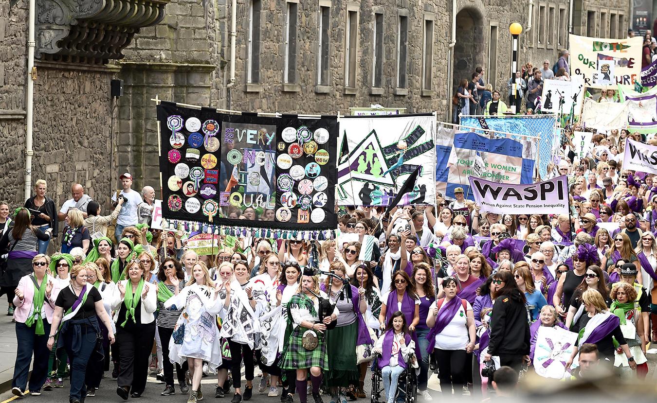 Processions 2018 walking through Edinburgh