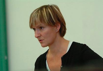 Side profile head shot of Deborah Warner