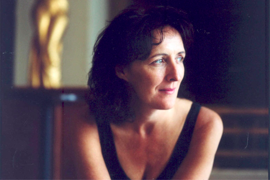 Headshot of Fiona Shaw, she is looking slightly off camera to the right