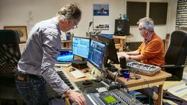 John and Mike Furness in the sound studio