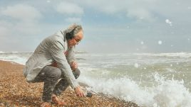 John recording sounds of the sea