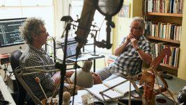 John and Orlando in the sound studio