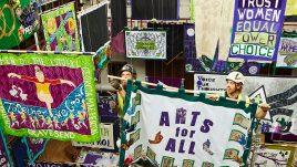 Women Making History, banner installation.